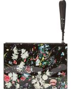 McQ by Alexander McQueen Black And Pink Festive Floral Print Tech Clutch - Lyst