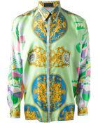 Gianni Versace Vintage Baroque Print Shirt - Lyst
