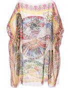 Dolce & Gabbana Fan-Print Silk Kaftan - Lyst