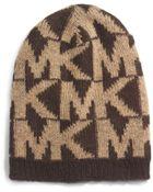 Michael Kors Knitted Logo Hat - Lyst