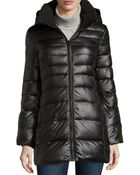 Marc New York By Andrew Marc Eva Zip-front Long Puffer Jacket - Lyst