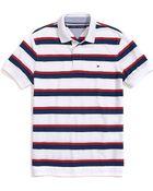 Tommy Hilfiger Custom Fit Stripe Pique Polo - Lyst