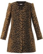 RED Valentino Leopard-jacquard A-line Coat - Lyst