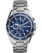 Michael Kors Men'S Chronograph Lansing Stainless Steel Bracelet Watch 45Mm Mk8354 - Lyst