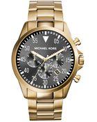 Michael Kors Mens Gage Gold Tone Chronograph Watch - Lyst