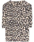 Etro Silk Leopard-Print Top - Lyst