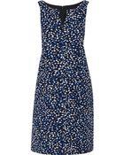 Oscar de la Renta Textured-Silk Dress - Lyst