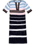 Fendi Striped Crochet Long Kaftan - Lyst