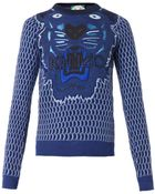 Kenzo Tiger-Embroidered Wool Sweater - Lyst
