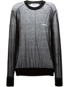 Givenchy Sheer Crew Neck Jumper - Lyst