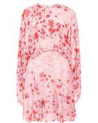 Giambattista Valli Violet Georgette Wide Sleeve Dress - Lyst