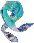 Laura Biagiotti Starfish Print Chiffon Silk Square Scarf - Lyst