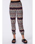 Missguided Zaleska Aztec Print Trousers - Lyst