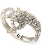 Alexis Bittar Elements Lounging Panther Hinge Bangle - Lyst