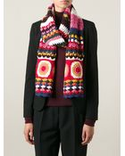 Etro Crocheted Scarf - Lyst