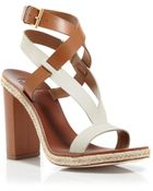 Tory Burch Two Tone Strappy Sandals - Marbella High Heel - Lyst