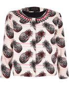 River Island Pink Pineapple Embellished Cropped Jacket - Lyst