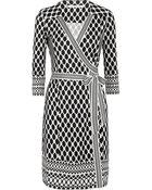 Diane von Furstenberg Tallulah Printed Silkjersey Wrap Dress - Lyst