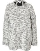 Helmut Lang Cotton Blend Drop Shoulder Pullover - Lyst