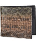 Paul Smith Whipsnake Leather Billfold Wallet - Lyst
