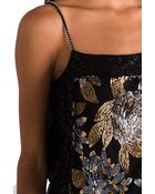 Anna Sui Runway Nuits De Paris Sequin Mesh and Lace Dress in Black - Lyst
