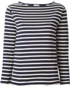 Saint Laurent Striped T-Shirt - Lyst