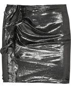 Isabel Marant Anouk Metallic Silk-Blend Mini Skirt - Lyst