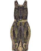 McQ by Alexander McQueen Cross-Back Printed Cotton-Blend Dress - Lyst