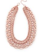 Adia Kibur Chain Link Necklace - Rose Gold - Lyst