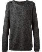 Ann Demeulemeester Crew Neck Sweater - Lyst