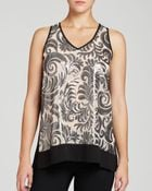 Karen Kane Sequin Filigree Top - Lyst