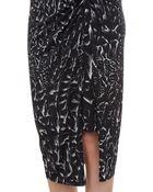 Helmut Lang Strata-print Asymmetric Wrap Midi Skirt - Lyst