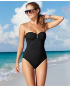 Calvin Klein Bandeau One-Piece Swimsuit - Lyst