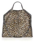 Stella McCartney Falabella Small Leopard-Print Faux Leather Tote - Lyst