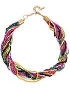 Asos Seedbead Twist Necklace - Lyst