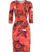 Preen By Thornton Bregazzi Dita Printed Stretchjersey Dress - Lyst