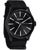 Nixon Sentry Nylon All Black Watch - Lyst