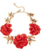 Oscar de la Renta Resin Coral Statement Necklace - Lyst