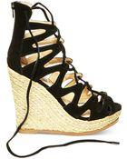 Steve Madden Women'S Theea Ghillie Platform Wedge Sandals - Lyst