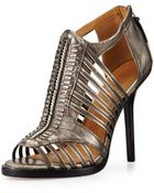 L.A.M.B. Kamy Metallic Leather Sandal - Lyst