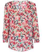 Joie Blouse - Leala Vibrant Floral Silk - Lyst