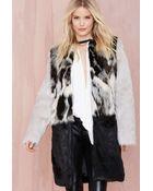 Nasty Gal Glamorous Tone Up Faux Fur Coat - Lyst