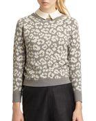 Marc By Marc Jacobs Lita Cheetah Sweater - Lyst