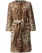 Dolce & Gabbana Leopard Print Coat - Lyst