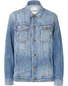 Current/Elliott Oversized Jean Jacket - Lyst