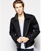 Unconditional Zip Contrast Sleeve Jacket - Lyst