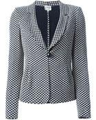 Armani Single Button Jacquard Blazer - Lyst