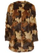 MICHAEL Michael Kors Camouflage Faux Fur Coat - Lyst