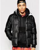 Criminal Damage Padded Jacket With Hood - Lyst