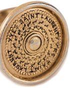 Yves Saint Laurent Vintage Signet Style Ring - Lyst